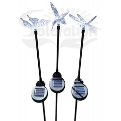 Hummingbird, Butterfly & Dragonfly with Black Stake Solar Lights, 30 units/Case
