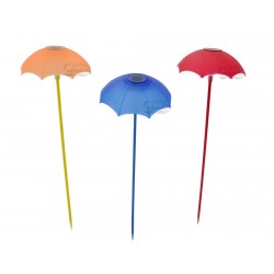 Red, Blue & Yellow Parasol Solar Garden Light: 36 units/Case