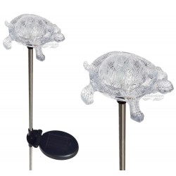 A pack of Two Small Water Turtle Solar Garden Lights: 24 units/Case
