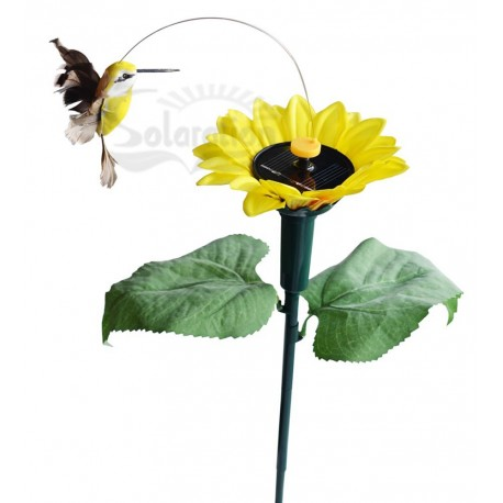 Solar or Battery Powered Dancing Hummingbird with Sunflower Yard Stake: 72 units/Case
