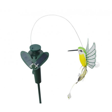 Solar or Battery Powered Fluttering Hummingbird with Plastic Wings Yard Stake: 72 units/Case