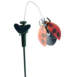 Solar or Battery Powered Fluttering Ladybug Yard Stake: 72 units/Case