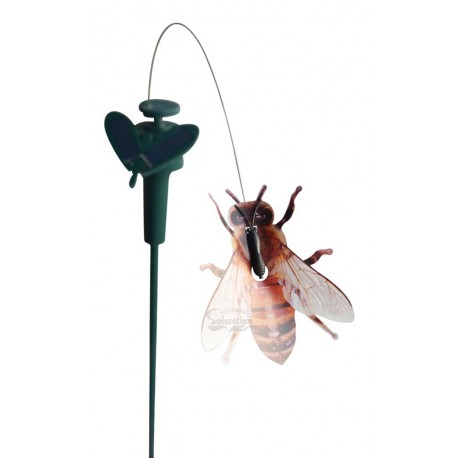 Solar or Battery Powered Fluttering Bumble Bee Yard Stake: 72 units/Case