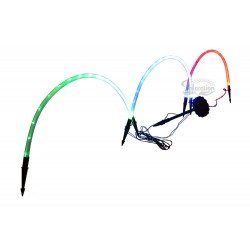 3 Rainbow Tube Solar Garden String Lights: 6 units/Case
