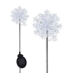 3D Snowflake Solar Garden Light: 20 units/Case