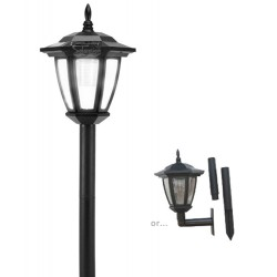 Plastic Hexagon Solar Light With Wall Mount and Ground Stake: 12 units/Case