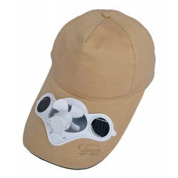 Solar Fan Beige Hat: 25 units/Case