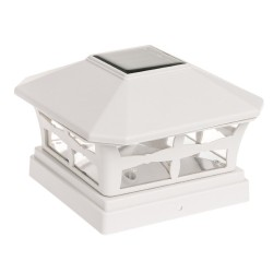 "5x5"" Fence Mount Post Off-White Color Cap Light: 12 units/Case"