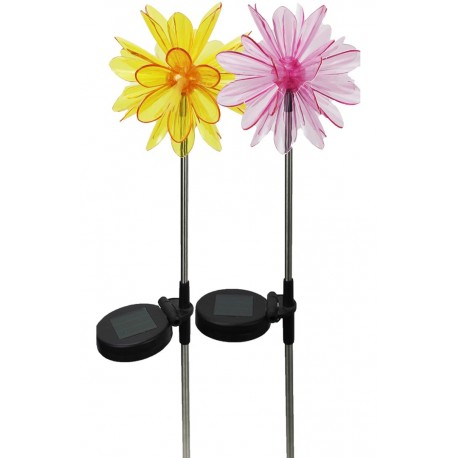 A pack of Two Tropical Flowers Solar Garden Lights: 18 units/Case