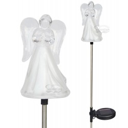 A pack of Two Frosty Praying Angel Solar Garden Lights: 24 units/Case