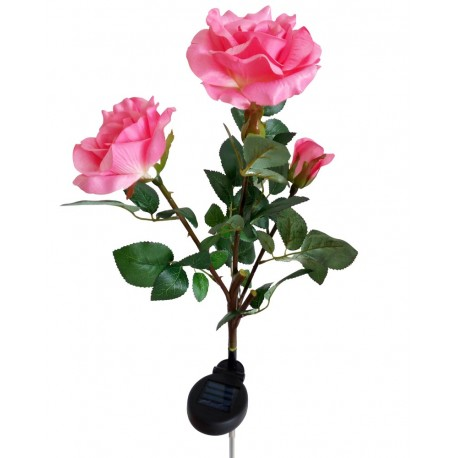 Fabric Pink Roses Solar Garden Lights, 1 unit/Package